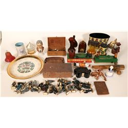 Cast Iron Banks(2) and other Curios  (100047)
