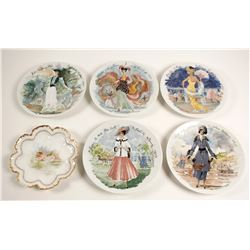 Collectors Plates with Ladies (6)  (90247)