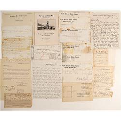 Comstock Mining Ephemera Collection: Letterheads, Reports, Documents  (99799)