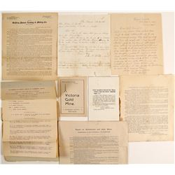 Miscellaneous Mining Ephemera Collection: Reports, Prospectuses, Letters  (99496)