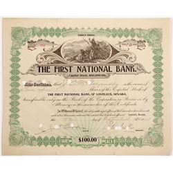First National Bank of Lovelock, NV Stock  (90579)