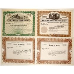 Nevada Banks Unissued Stocks - Rare  (91055)
