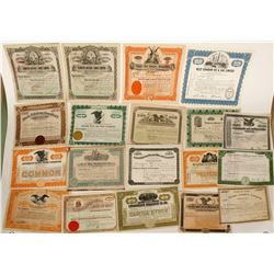 22 misc stock certificates - US / Canada  (91043)