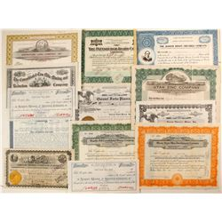 13 Western State mines stock certificates  (91047)