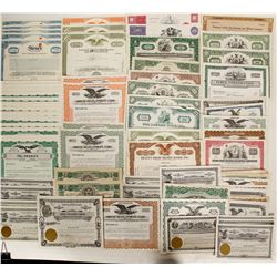 90 Miscellaneous stock certificates  (91058)