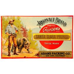 Argonaut Brand, Santa Clara Prunes Label  (89319)