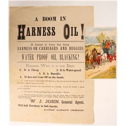 Harness Oil and Coach Oil Broadside and Tradecard  (89112)