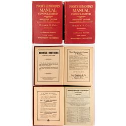Poor's and Moody's Manual Consolidated 1921, 2 Volumes  (52219)