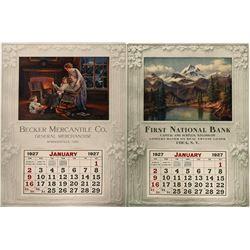 Becker Mercantile 2 Sided Wall Calendar  (100028)