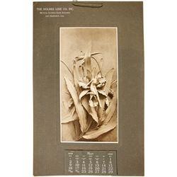 Holmes Lime Co. 1909 Calendar  (86873)