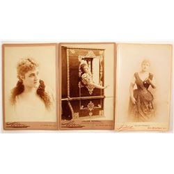 Lillian Russell Mounted Photos (3)  (89342)