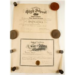 Certificate of Graduation from Grammar School & High School  (78350)