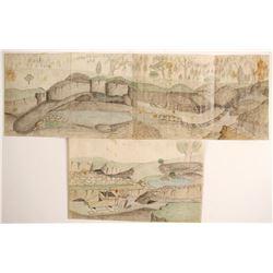 Color Mining Sketches, Calaveras, CA  (89363)