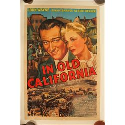 "Movie Poster / "" In Old California""   (100256)"