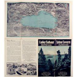 c1920s Tahoe Tavern Brochure, Lake Tahoe  (78667)