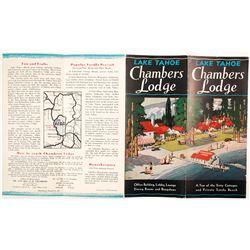 Chambers Lodge, Lake Tahoe, Brochure  (78659)