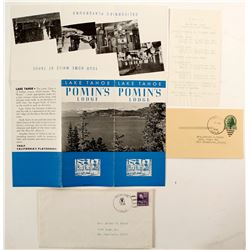 Pomin's Lodge Brochure & Cover, Lake Tahoe  (78664)