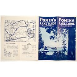 Pomin's Resort, Lake Tahoe, Brochure  (78663)