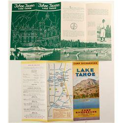 Two Nice 1930s Lake Tahoe Tourism Brochures  (78665)