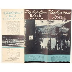 Zephyr Cove Beach, Lake Tahoe, Brochure  (78660)