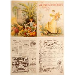 San Francisco, CA Advertising Folded Broadside  (100018)