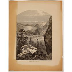 Donner Lake, California  Illustration  (100400)