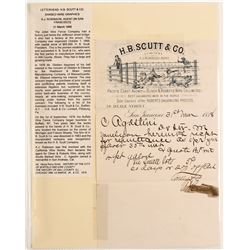 HB Scutt Pictorial Barb Wire Letter  (89119)