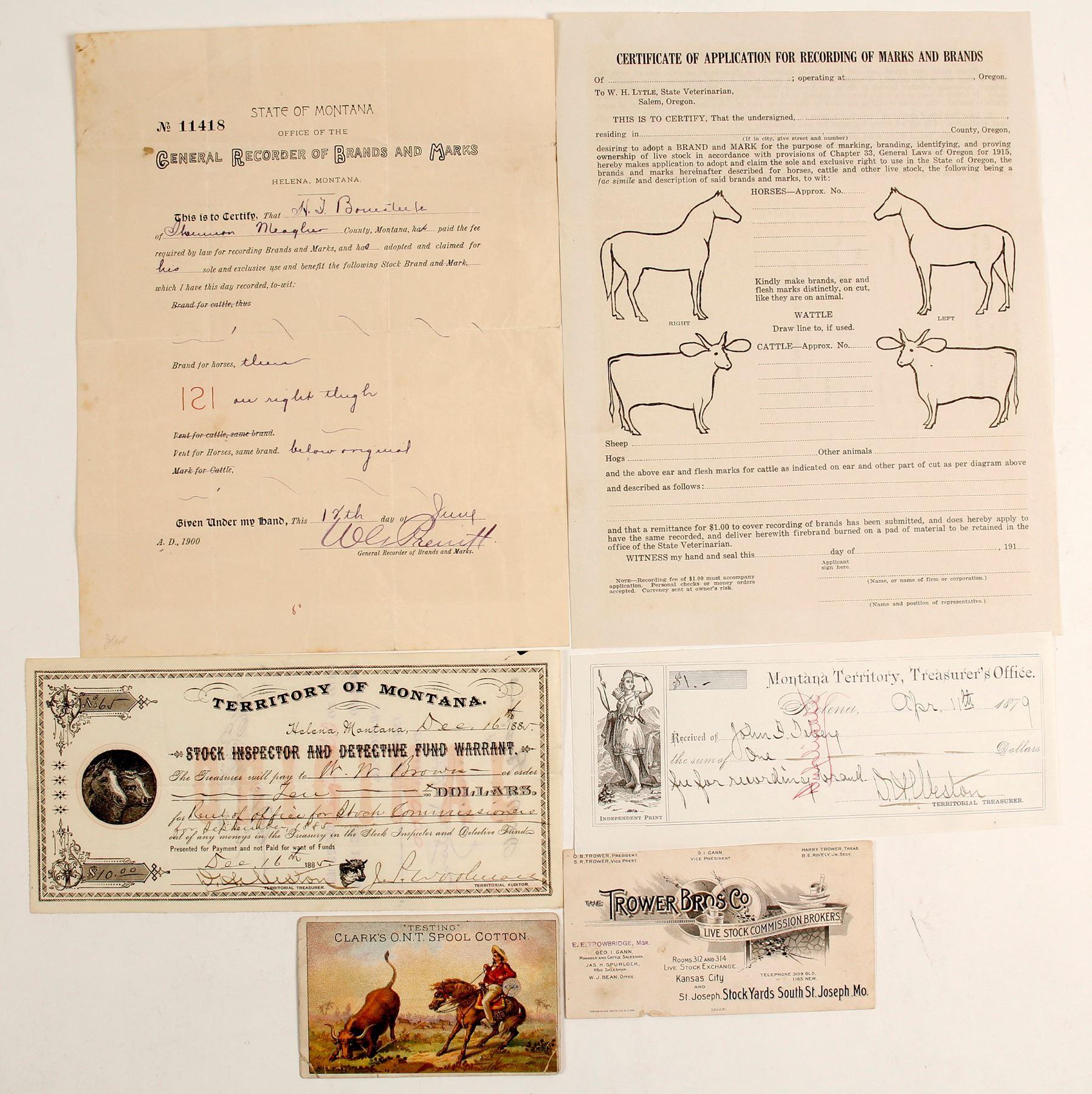 Montana Cattle Branding Ephemera (89124)