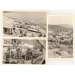 3 Photographs of Rare Town Mangum AND a Mill Flanges Sketch for the Aurora Consolidated Mill  (99587