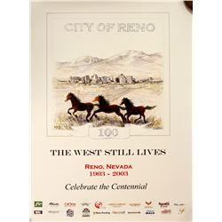 Reno, NV City Centennial Poster  (60806)