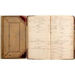Eugene Griswold c1890 Purchasing Ledger  (99641)