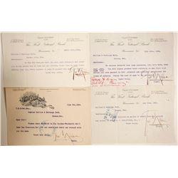George Nixon Signed Memos (4)  (89972)