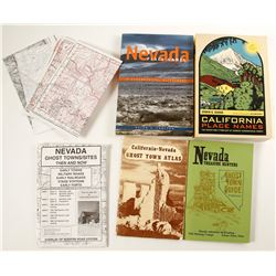 California & Nevada History Library (Place Names & Ghost Town Maps)  (78671)