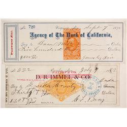 Rare Nevada Checks (2)  (89863)