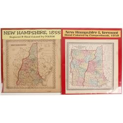 Maps of New Hampshire & Vermont (2)  (72011)
