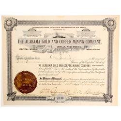 Pat Garrett Signed Gold Mining Stock  (90971)