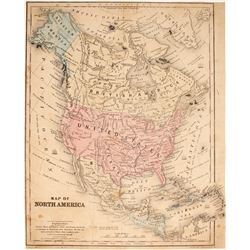 North America Map by Stiles  (89967)