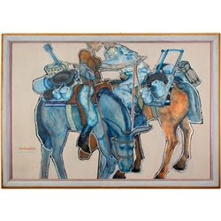 Panhandlers Painting   (76602)