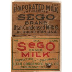 Sego Wood Milk Box Ends (2)  (100044)