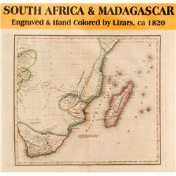 Map of South Africa & Madagascar  (59634)