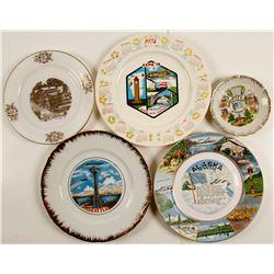 5 Souvenir Plates  (76840)