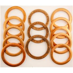 Baker's Dozen of Heavy Brass Rings  (80220)