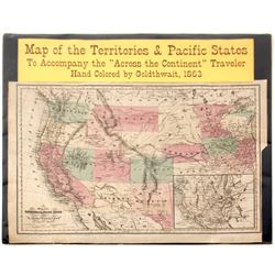 Map of Territories & Pacific States   (59306)