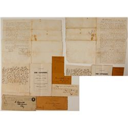 James King of William Gold Rush Ephemera with Extremely RARE Original Auction Catalog  (56908)