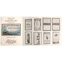 Clipper Ship Card Auction Catalog from Speigel Galleries  (63335)