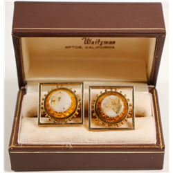Gold in Quartz Cufflinks  (89327)