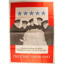 "5 Sullivan Bros. ""Missing in Action Poster""  (89941)"