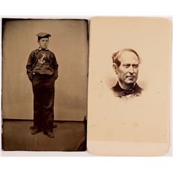 Civil War Tin Type and CDV Including Admiral Farragut  (88540)