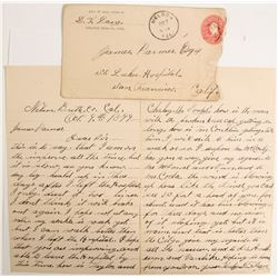 Nelson, CA Cover and Letter  (89141)