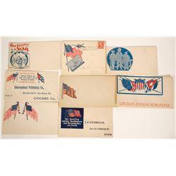 8 Civil War & Political Covers  (91074)